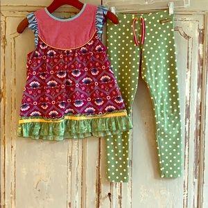 Matilda Jane Matching Top & leggings, Girls Sz 10